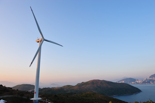 The single turbine wind plant on the Lamma Island since 2006.